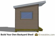 8x10 design studio shed plan front