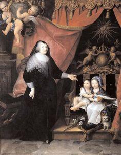 Françoise de Souvré, dame de Lansac (1582-1657), Louis XIV et Philippe de France vers 1643, École française, XVIIe siècle