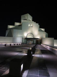 The Museum of Islamic Art at night. Doha, Qatar
