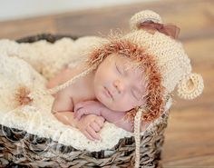 Baby Lion Hat Costume Baby Hat with Ears Newborn by BabyGraceHats, $26.00
