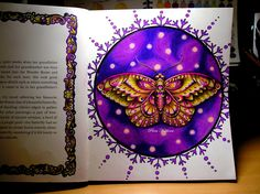 Ivy and the Inky Butterfly  Johanna Basford  Prismacolor Polychromos