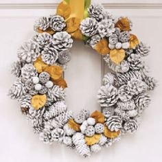Minus the gold. For our front door as a winter wreath.