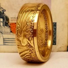 1oz Gold Eagle Hand-made Ring