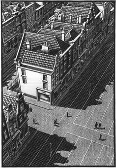 delft mc escher 1939 s Mc Escher, Escher Kunst, Escher Art, Escher Prints, Escher Drawings, Magritte, Delft, Escher Paintings, Black And White