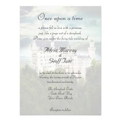 Castle Theme Wedding Invitation