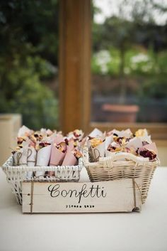 Paper cones of dried flowers double as confetti for this romantic wedding send-o. Paper cones of dried flowers double as confetti for this romantic wedding send-off. If you're looking for unique additio. Diy Wedding Day, Wedding Send Off, Wedding Signs, Wedding Table, Wedding Events, Fall Wedding, Wedding Hacks, Budget Wedding, Trendy Wedding