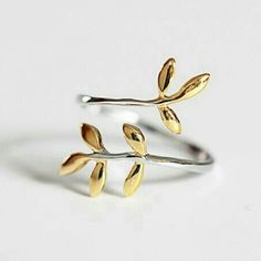Ring New acquisitions 925 sterling silver rings Leaves foliage leaf ring rings jewelry gift for woman open size Jewelry Rings