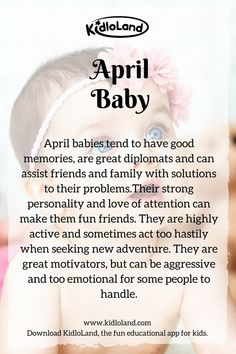 - KidloLand Secret of a April Baby! KidloLand reveals amazing personalities and qualities about April baby!april-baby-month - KidloLand Secret of a April Baby! KidloLand reveals amazing personalities and qualities about April baby! Happy Birthday Love Quotes, Happy Birthday Images, Birthday Quotes, Happy Quotes, Me Quotes, Qoutes, April Born Quotes, April Quotes Month Of, Birth Month Personality