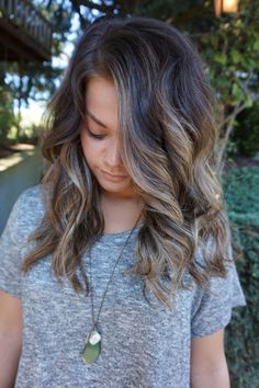 Cool Toned Brunette Balayage. Hair by Abigail Walston