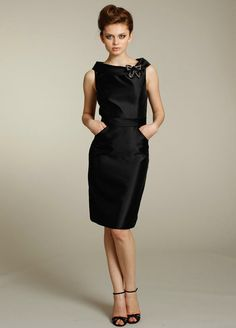 BRIDESMAIDS - Hepburn and Monroe. - One thing I chose is to put my party all in the same style dress - as black is a color anyone will wear to a wedding so keeping them all in same dress - in case of black - set's them apart and signifies them as bridal party and not just a guest.