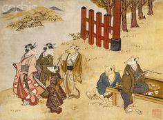 Kitsune no Yomeiri - The Fox's Wedding Series Print by Tachibana Minko and his Circle