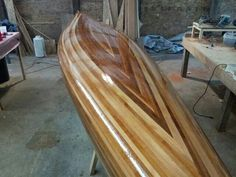 After 3 coats of epoxy.  She's ready to pull and flip.