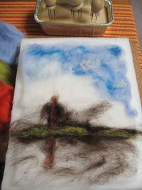 How to make a needle felted landscape