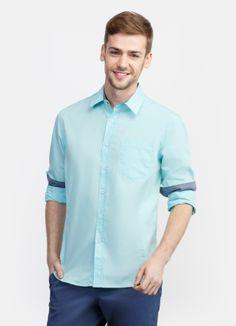 Базовая рубашка с карманом за 1199р.- от OSTIN