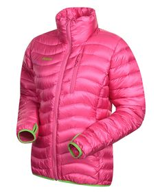 Look at this Bubblegum & Forest Cecilie Down Jacket on #zulily today!