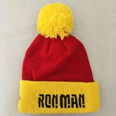 3 Blended colors USC Trojans Heat Applied Logo Good quality! Dark RedGoldWhite Adult Unisex on a Knit Cuffed Beanie POM hat cap