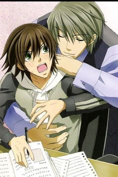 Misaki and Usagi-junjuo romantica i love them <3 <3 And i think junjou romantica is the best yaoi in the history of yaoi