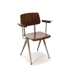 Vintage Galvanitas industriële stoel
