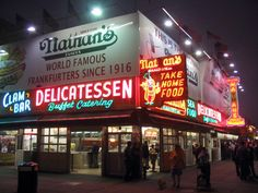The World Famous Coney Island hot-dog - Nathan's. (The first hotdog was sold at Coney Island)