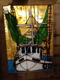 SOLD! #window #stainedglass #boat