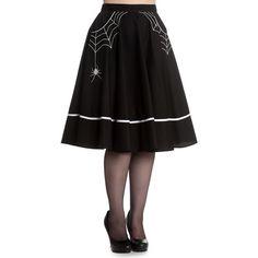 "Hell Bunny ""Miss Muffet"" Skirt With Spider Detail Skirt"