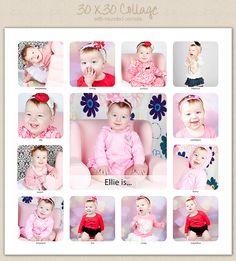 The Album Cafe   Photoshop Templates!: Alexi Killmer   30 x 30 Collage