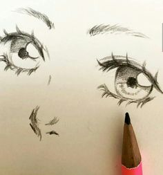 Art Drawings Sketches Simple, Pencil Art Drawings, Cute Drawings, Drawing Expressions, Cartoon Art Styles, Art Reference Poses, Art Sketchbook, Art Tutorials, Cute Art