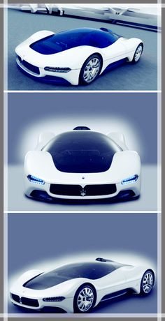 Maserati Birdcage Concept Car... what if you get a cracked windshield? do you just get the roadster model?