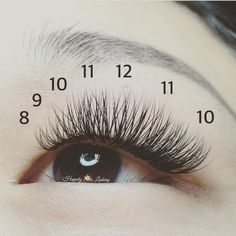 A natural style. Shortest length in the inner corner, longest in the middle, and back down to a shorter length on the outer corner eyelash extensions, volume la (Beauty Tricks Wake Up) Best Lashes, Fake Lashes, Long Lashes, False Eyelashes, Natural Eyelashes, Eyelashes Grow, Artificial Eyelashes, Borboleta Beauty, Makeup Tricks