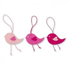 Filz-Vogel 6,5cm zum Hängen rosa-pink