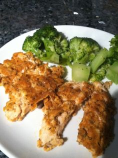 baked almond breaded chicken - would be good for chicken salad.