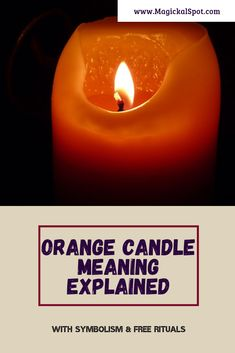 Here's everything you need to know about the Orange Candle Meaning and Symbolism. I've also included 4 special rituals - for love, money, success, and fertility. Candle Power, Candle Magic, Candle Spells, Candle Jars, Wiccan Spells, Magic Spells, Magick, Witchcraft, Pink Candles