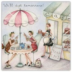 We'll Diet Tomorrow Berni Parker Designs Card