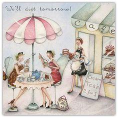 We'll Diet Tomorrow Berni Parker Designs Card