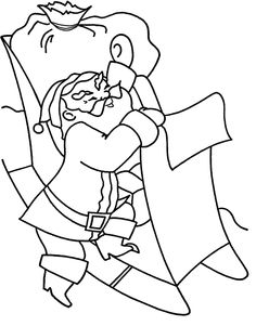 Santa Went On Christmas Eve Coloring Pages