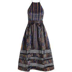 Zimmermann Esplanade Spiral Dress (12 945 ZAR) ❤ liked on Polyvore featuring dresses, zimmermann dress, corset style dress, black strappy dress, paisley print dress y paisley dress