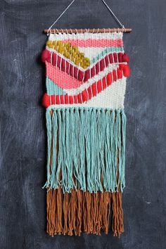 Beautiful weaving inspiration by Smile & Wave Learn the basics of weaving here- http://www.abeautifulmess.com/2014/07/weaving-class-the-basics.html