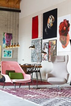 A Tour of AphroChic's Stylish Show Home at Helms Bakery | Apartment Therapy