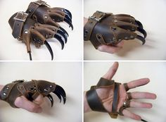 Clawed gloves ~ strongholdleather - Similar to something I designed back in university