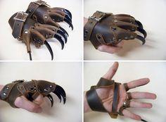 Clawed gloves ~ strongholdleather - Similar to something I designed back in university