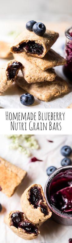 Homemade Blueberry Nutri Grain Bars | halfbakedharvest.com @hbharvest Nutrigrain Bar, Thing 1, What's For Breakfast, Half Baked Harvest, Pancakes And Waffles, Healthy Snacks, Healthier Desserts, Food Porn, Cooking Recipes