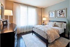 Guest Bedroom at 40 Park Morristown NJ for Roseland Property