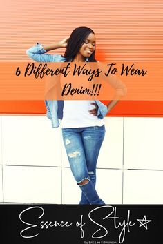 Denim is an age-old fashion staple for any wardrobe! Check out how I styled 6 different ways to wear denim for inspiration for your wardrobe! Suit Fashion, Daily Fashion, Business Casual Men, Men Casual, Denim Outfit, Men Looks, Mens Clothing Styles, Looking For Women, Casual Looks