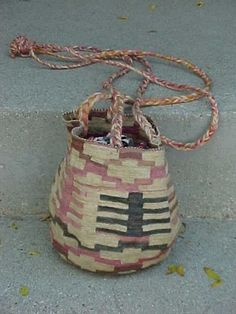 Estate Shigra Woven Natural Dyed Fiber Basket Bag * Quechua Salcedo Ecuador