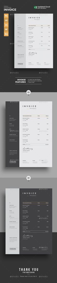 Invoice - use of an invoice