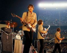 The Beatles live at Shea Stadium, August 15th, 1965.