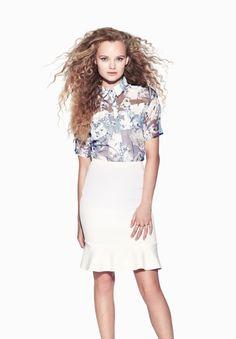8f47428f002a4 ZALORA Kimono Sleeve Blouse and Midi Ruffle Hem Skirt http   www.zalora
