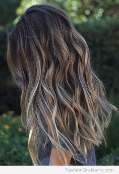 Soft brunette balayage in ash brown