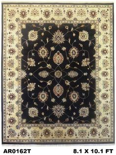 New Arrival @ #Abee #Rugs  #Superfine #Vegi #Allover #Chobi #Motif Black & White Border. http://abeerugs.com/superfine-vegi-allover-chobi-motif-black-and-white-border-AR0162T?search=ar0162  Visit our official webpage www.abeerugs.com for more details.