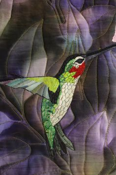 close up, HUMMER by Barbara Strobel Lardon Art quilts